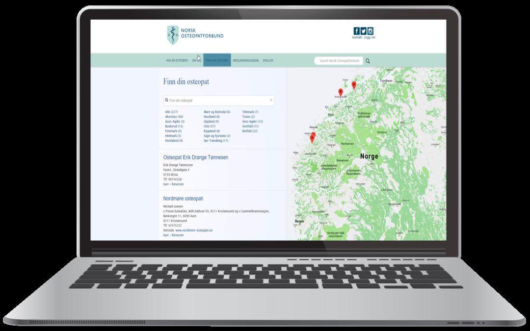 Kartløsning for Norsk Osteopatforbund