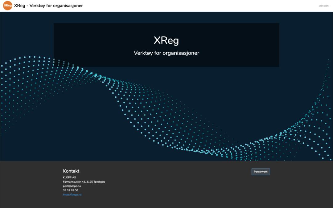 XReg lansert